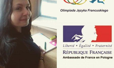 Klaudia Mieleszko- przeszła do II etapu Olimpiady z Języka Francuskiego